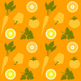 Fruit en Plantaardig Naadloos Vectorpatroon Royalty-vrije Stock Foto's