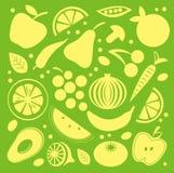 Fruit en plantaardig patroon Stock Fotografie