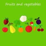 Fruit en plantaardige achtergrond vector illustratie