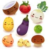Fruit en plantaardige Inzameling Stock Afbeelding