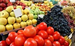 Fruit en plantaardige markt Stock Foto