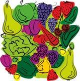 Fruit en plantaardige mengeling Royalty-vrije Stock Fotografie