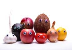 Fruit en plantaardige mensen. Royalty-vrije Stock Fotografie