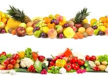 Fruit en plantaardige texturen Stock Afbeelding