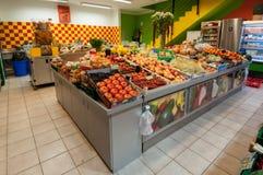 Fruit en plantaardige winkel Royalty-vrije Stock Afbeeldingen
