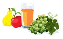 Fruit en sap Royalty-vrije Stock Afbeelding