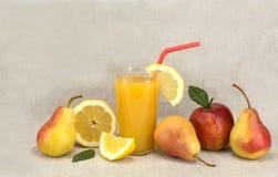 Fruit en sap gezond voedsel Royalty-vrije Stock Fotografie