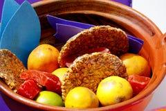 Fruit en suikergoed I stock fotografie