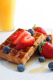 Fruit en wafels Stock Foto
