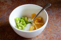 Fruit en Yoghurt royalty-vrije stock foto's