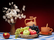 Fruit et fleurs Image libre de droits
