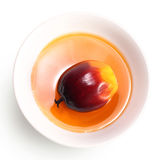 Fruit et huile de friture de palmier à huile Photographie stock libre de droits