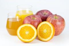 Fruit et jus Photographie stock libre de droits