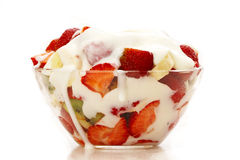 Fruit et yougurt Image stock