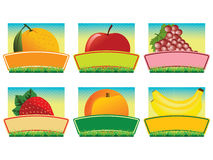 fruit etykietki Zdjęcie Stock