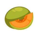 Fruit exotique comestible de papaye d'isolement sur le blanc illustration libre de droits