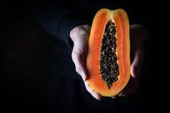 Fruit exotique de papaye photo stock