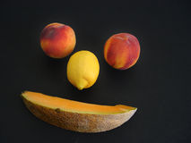 Fruit Face. Abstract face made up of fruit stock photos