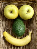 Fruit Face Royalty Free Stock Photos