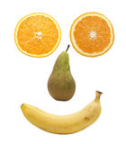 Fruit face over white Stock Image
