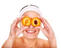Fruit  facial masks. Royalty Free Stock Image
