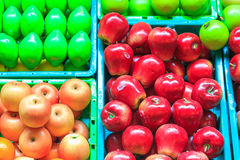 Fruit fake. On basket  it have colour beautyful Royalty Free Stock Photography