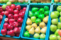 Fruit fake. On basket  it have colour beautyful Stock Photography