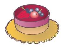 Fruit fancy. Illustration of a fancy cake with fruit glaze Stock Images