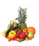 Fruit Fantasy. Fruits and vegetables of different kind in delicious arrangement royalty free stock image