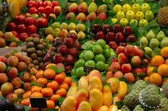 Fruit fantasy. Fruits pattern on a market desk Stock Image