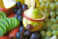 Fruit Fantasy. From pear fruit in the background, Fruit Fantasy Stock Photography