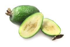 Fruit feijoa, pineapple guava Stock Images