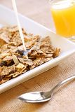 Fruit and fibre breakfast. Fruit and fibre with fresh orange juice, a healthy way to start the day Stock Images