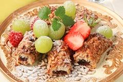 Fruit filled bar cookies Stock Photo