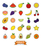 Fruit Filled Line Icon Vector Set Royalty Free Stock Photos