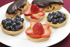 Fruit filled tarts Stock Images