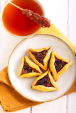 Fruit filling pastry triangles Royalty Free Stock Images