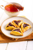Fruit filling pastry triangles Royalty Free Stock Photo