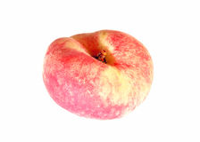 Fruit of the flat peach isolated Royalty Free Stock Images