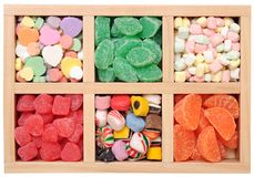 Fruit flavor candies Stock Photos