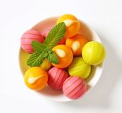 Fruit flavored bonbons Stock Image