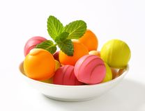 Fruit flavored bonbons Stock Photos