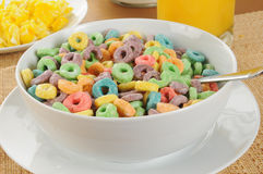 Fruit flavored cereal Stock Photo