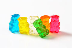 Fruit flavored gummy bears Stock Photo