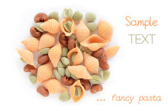 Fruit flavored pasta Royalty Free Stock Images