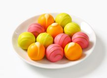Fruit flavored pralines Stock Photography