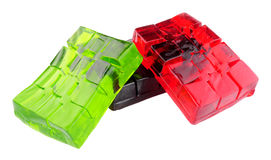 Fruit Flavour Jelly Cubes Stock Photo