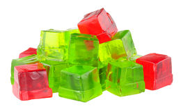 Fruit Flavour Jelly Cubes Stock Images