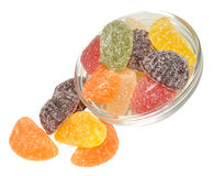 Fruit Flavoured Jellies Royalty Free Stock Images