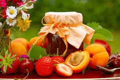 Fruit and flower bouquet Stock Image